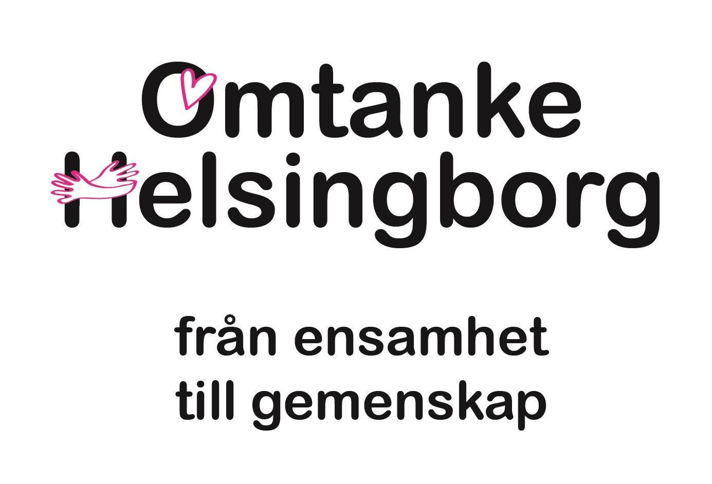 Bild med projektets logotyp Omtanke Helsingborg från ensamhet till gemenskap.